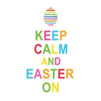 Servietten 33x33 cm - Keep Calm Easter