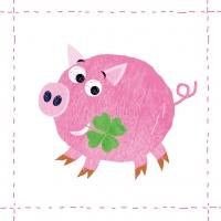 Lunch Servietten Lucky Piggy