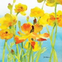 Servietten 33x33 cm - Yellow Buttercups