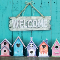 Servietten 33x33 cm - Welcome Home