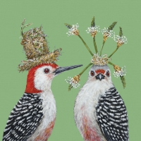 Lunch Servietten Woodpecker Wedding