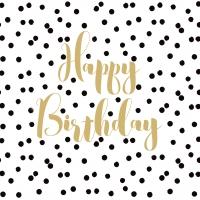 Servietten 33x33 cm - Birthday Confetti