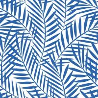Servietten 33x33 cm - Palm Leaves indigo