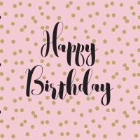 Servietten 33x33 cm - Birthday Confetti rosé