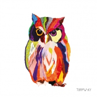 Lunch Servietten Leros Owl