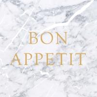 Lunch Servietten Marble Bon Appetit