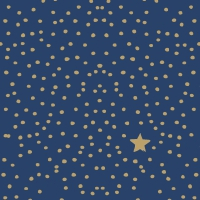 Servietten 33x33 cm - The Star Money dark blue