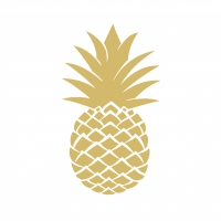 Servietten 33x33 cm - Golden Pineapple
