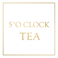 Servietten 33x33 cm - Five o´clock Tea