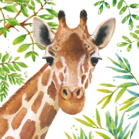 Lunch Servietten Tropical Giraffe