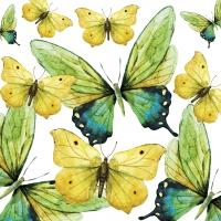 Servietten 33x33 cm - Green Butterflies
