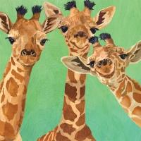 Servietten 33x33 cm - Giraffe Amigos