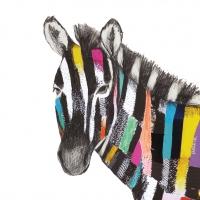 Servietten 33x33 cm - Regalia Zebra