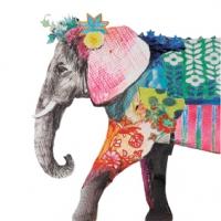 Servietten 33x33 cm - Regalia Elefant