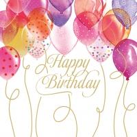 Servietten 33x33 cm - Birthday Balloons