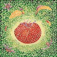 Servietten 33x33 cm - Mosaique Tomate