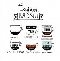 Servietten 33x33 cm - Kaffee-Menü