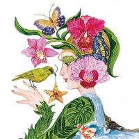 Servietten 33x33 cm - La Flora