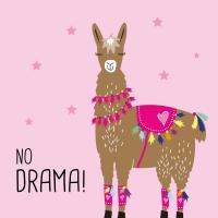 Servietten 33x33 cm - Drama Llama pink