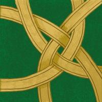 Servietten 33x33 cm - Pfandrechte d´Or grün