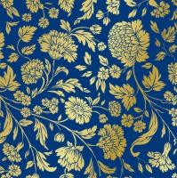 Servietten 33x33 cm - George V. embossed gold blue