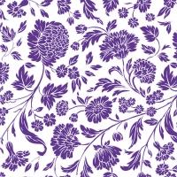 Servietten 33x33 cm - George V.  embossed violet white