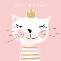 Servietten 33x33 cm - Happy Birthday Princess