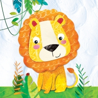 Servietten 33x33 cm - Happy Lion