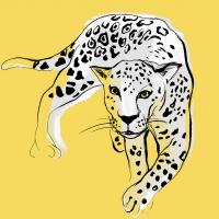 Servietten 33x33 cm - Graphic Leopard