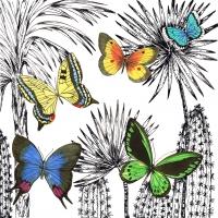 Servietten 33x33 cm - Desert Butterflies