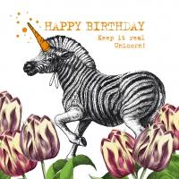Servietten 33x33 cm - Unicorn Zebra