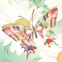Servietten 33x33 cm - Echo Schmetterling