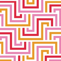 Servietten 33x33 cm - Squared Lines