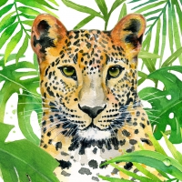 Servietten 33x33 cm - Tropical Leo