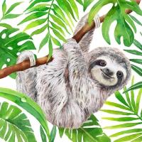 Servietten 33x33 cm - Tropical Sloth