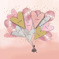 Servietten 33x33 cm - My Love