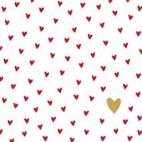 Servietten 33x33 cm - Kleine Herzen