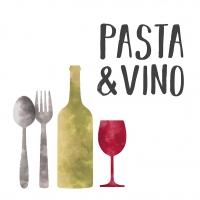Servietten 33x33 cm - Pasta & Vino