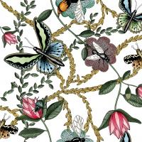 Servietten 33x33 cm - Bugs & Butterflies