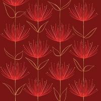 Servietten 33x33 cm - Flowers on fire