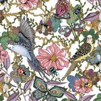 Servietten 33x33 cm - Birds & Flowers