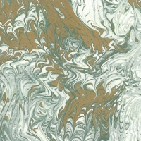 Servietten 33x33 cm - Marmorata verde-oro