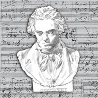 Servietten 33x33 cm - Beethoven