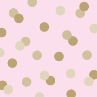 Servietten 33x33 cm - Dots rosé