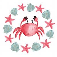 Servietten 33x33 cm - Le Crab