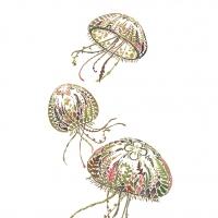 Servietten 33x33 cm - Green Medusa