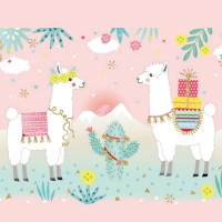 Servietten 33x33 cm - Pastel Llamas