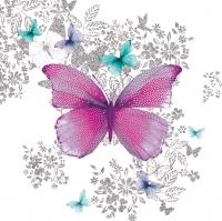Servietten 33x33 cm - Butterfly Pattern