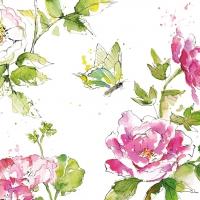 Servietten 33x33 cm - Summer Rose 33x33 cm