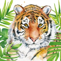 Servietten 33x33 cm - Tropical Tiger